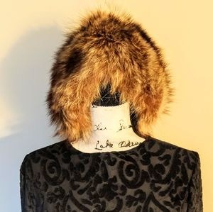 Saks Fifth Avenue Accessories - Vtg Saks fifth avenue fox fur hat